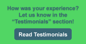 "How was your experience? Let us know in the ""Testimonials"" section!"